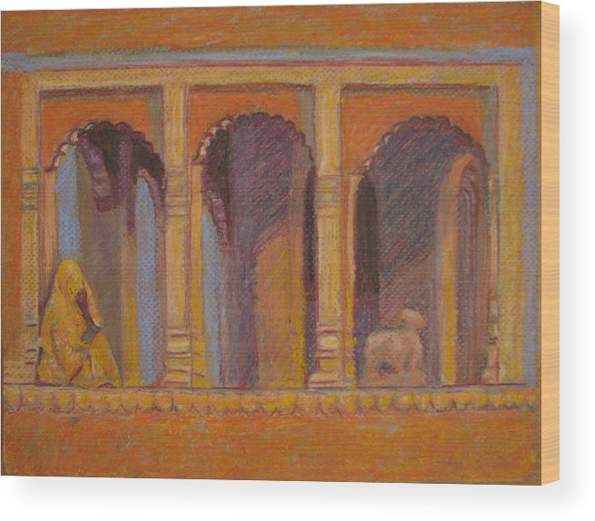God Wood Print featuring the painting Alone Or With God by Art Nomad Sandra Hansen