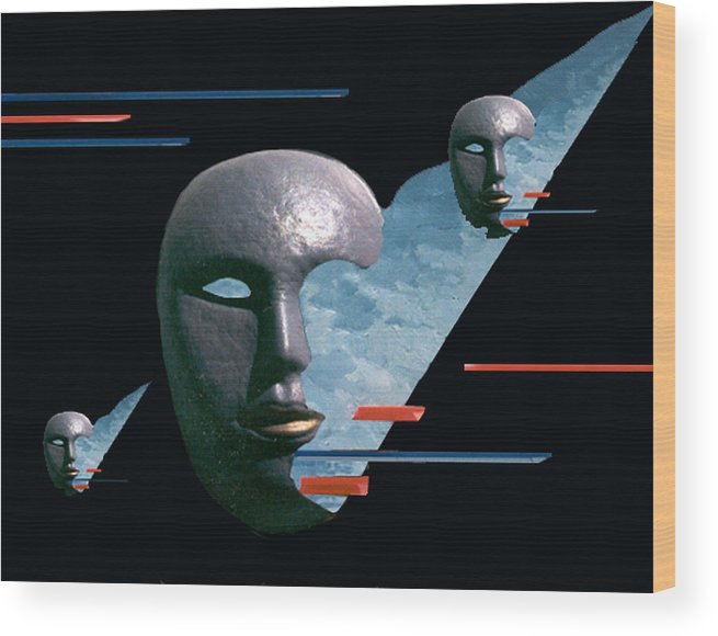 Surreal Wood Print featuring the digital art An Androids Dream by Steve Karol