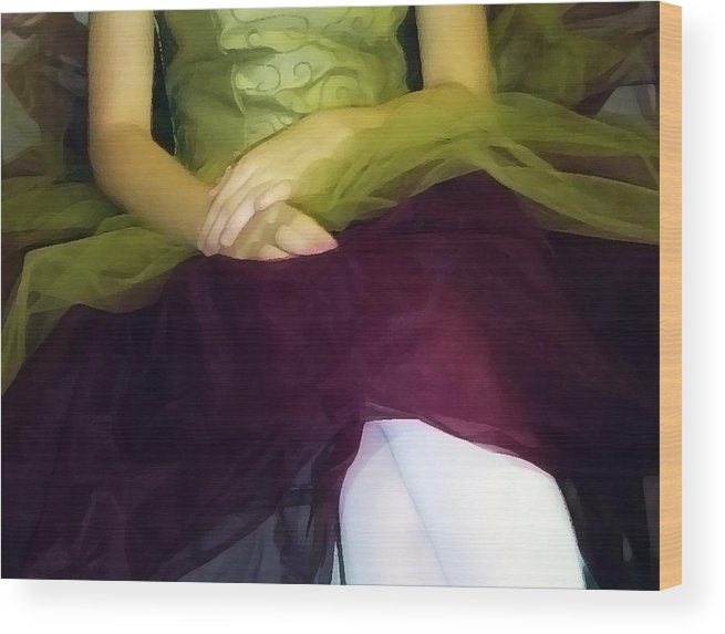 Abstract Wood Print featuring the photograph Ballerina Lap by Angelina Vick