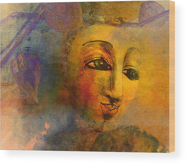 Abstract Wood Print featuring the photograph Beauty Personified by Jeff Burgess