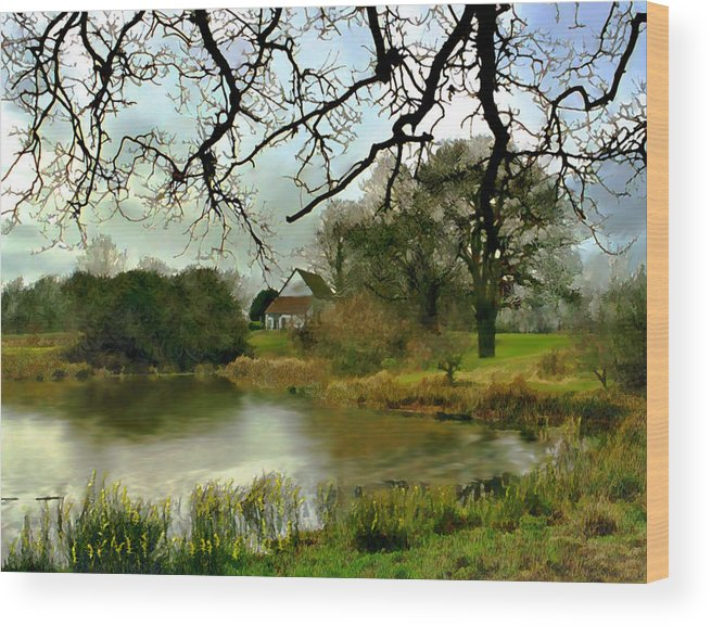 England Wood Print featuring the photograph Butlers Retreat Epping Forest Uk by Kurt Van Wagner