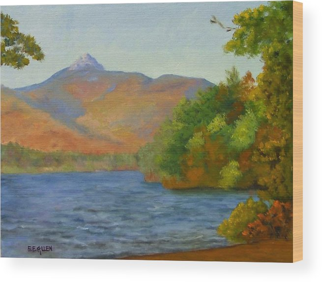 Mount Chocorua And Chocorua Lake Wood Print featuring the painting Chocorua by Sharon E Allen