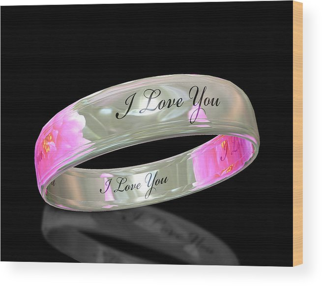 Ring Wood Print featuring the digital art Circle Of Love by Cecil Fuselier
