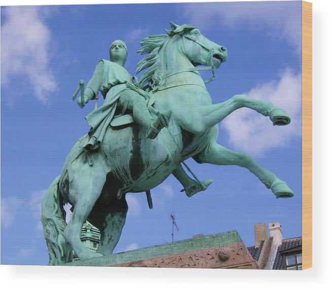 Statue Wood Print featuring the photograph Copenhagen Keeper by Alexa Humphreys