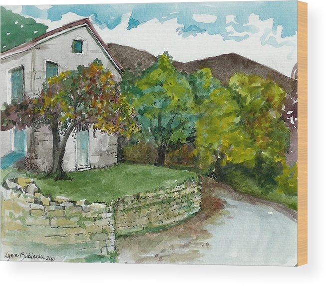 Italy Wood Print featuring the painting Cosica Italy by Lynn Babineau
