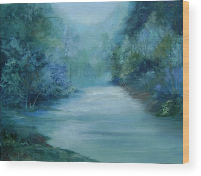 Burton River Georgia Wood Print featuring the painting Dreamsome by Ginger Concepcion