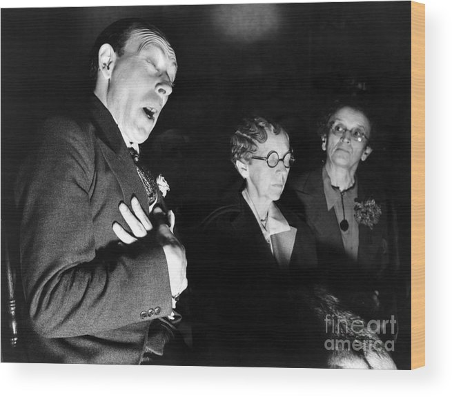 1937 Wood Print featuring the photograph English Seance by Granger