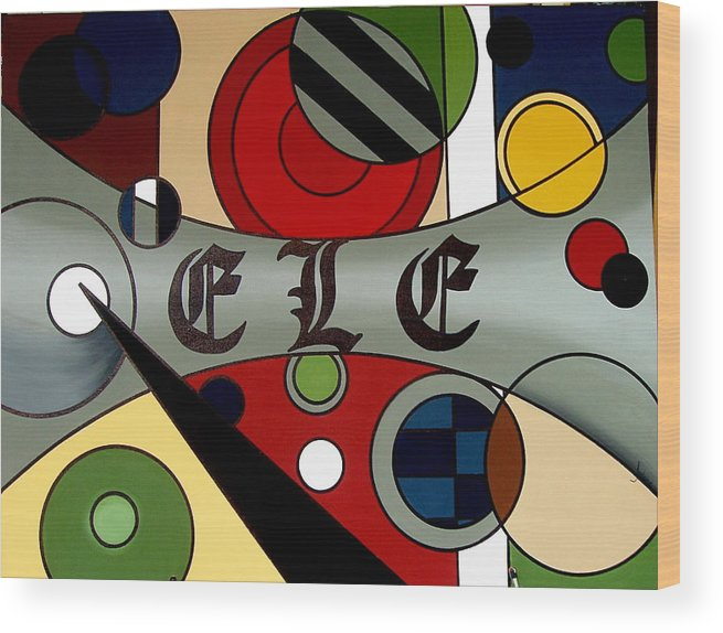 Abstract Painting Wood Print featuring the painting Everybody Love Everybody by Julaine DeJong