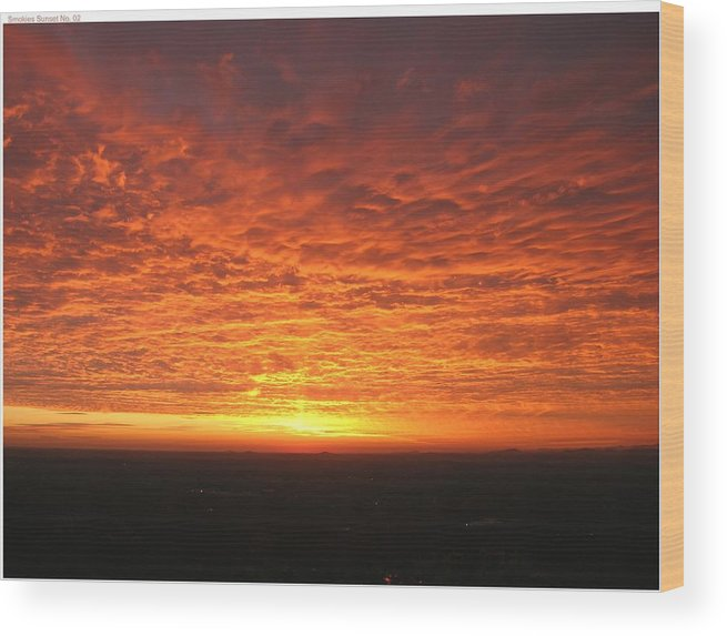 Sunset Wood Print featuring the photograph Fire Storm by John Geck