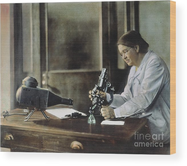 1928 Wood Print featuring the photograph Florence Rena Sabin by Granger