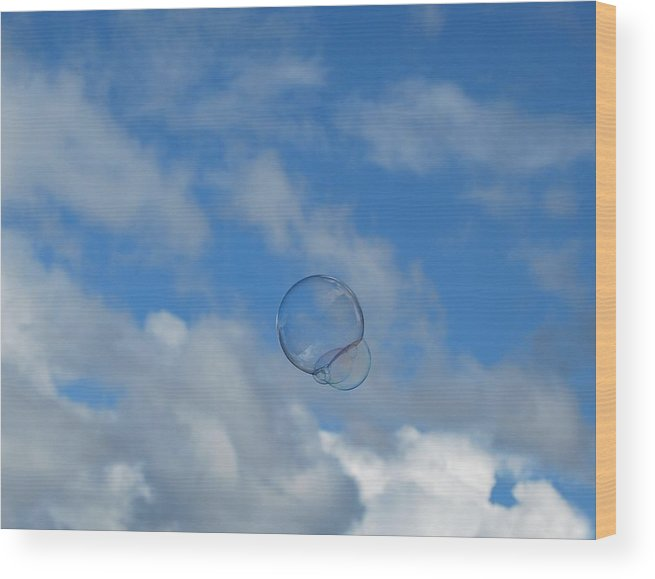 Bubbles Wood Print featuring the photograph Flying Free by Marilynne Bull