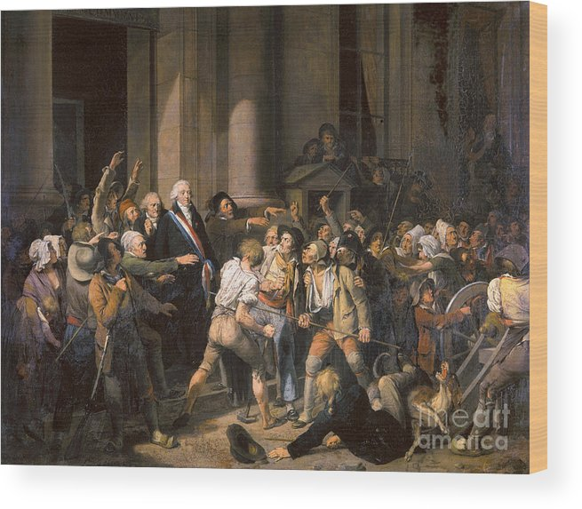 1793 Wood Print featuring the photograph France: Bread Riot, 1793 by Granger