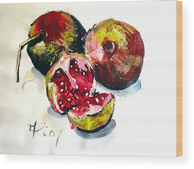 Contemporary Wood Print featuring the painting Fruits Of Heaven by Ali Hammoud