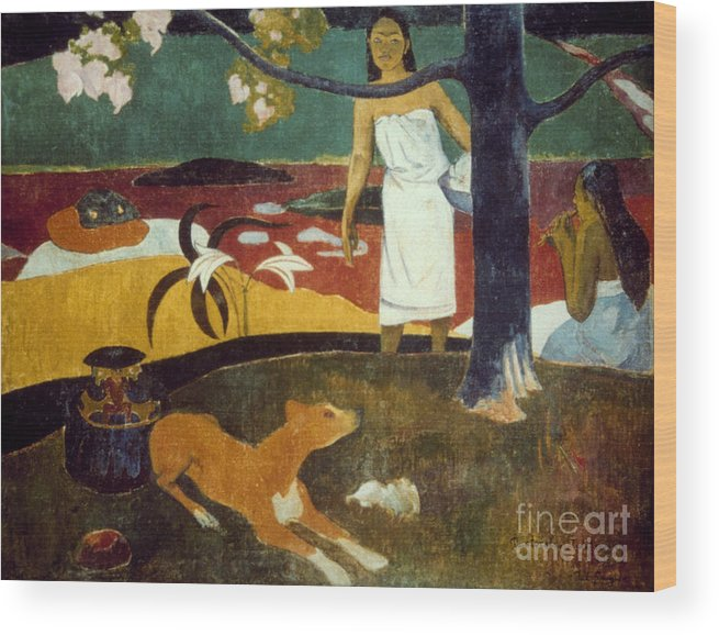 19th Century Wood Print featuring the photograph Gauguin: Pastoral, 19th C by Granger