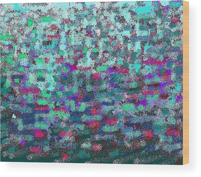 Color Harmony Wood Print featuring the digital art Green by Beebe Barksdale-Bruner
