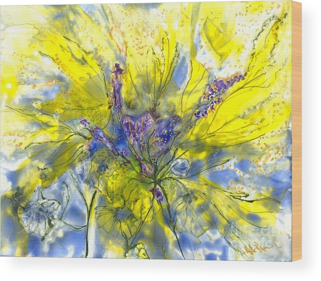 Healing Wood Print featuring the painting Healing Painting For Viet by Heather Hennick