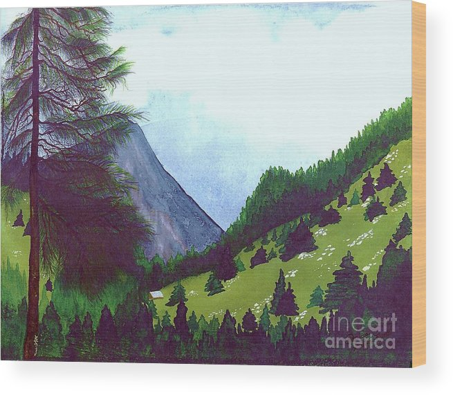 Original Painting Wood Print featuring the painting Heidi's Place by Patricia Griffin Brett