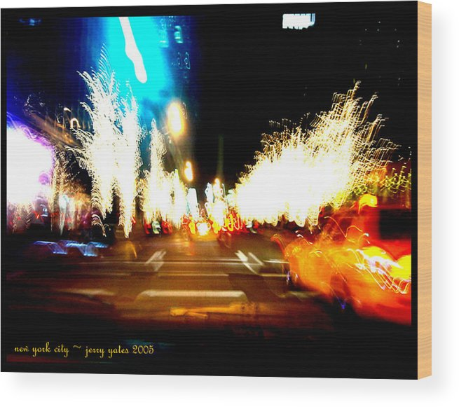 New York City Wood Print featuring the photograph Holiday Party by Gerard Yates