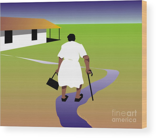 Women Wood Print featuring the digital art Homecoming by Walter Neal