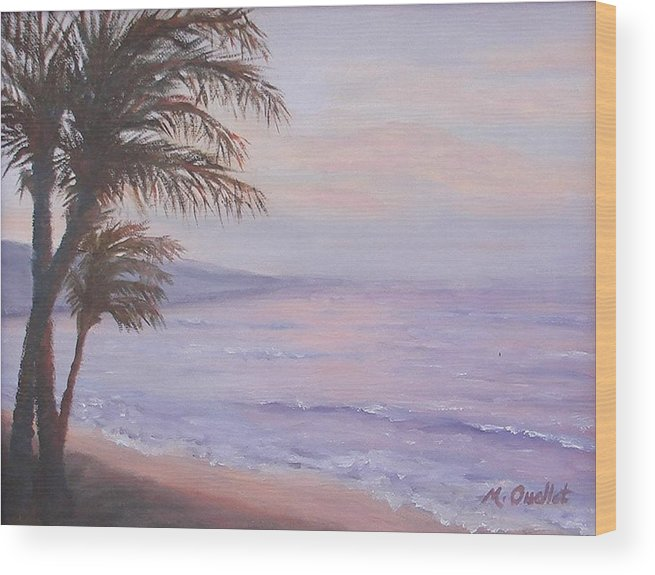 Landscape Wood Print featuring the painting Honeymoon In Maui by Maxine Ouellet