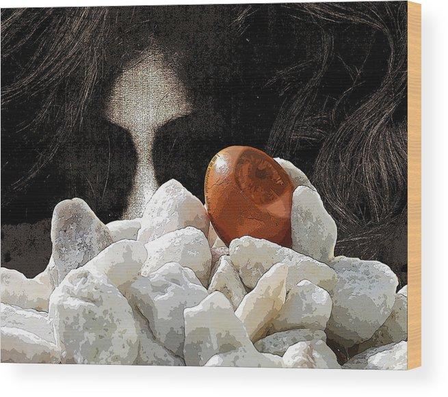 Phantom Wood Print featuring the digital art I Am... by Erik Krieg