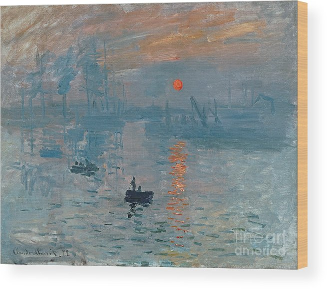 Impression Wood Print featuring the painting Impression Sunrise by Claude Monet