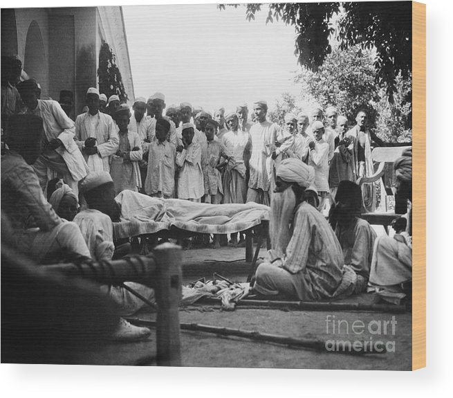 1929 Wood Print featuring the photograph India: Malaria Play, C1929 by Granger