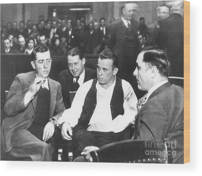 1934 Wood Print featuring the photograph John Dillinger 1903-1934 by Granger