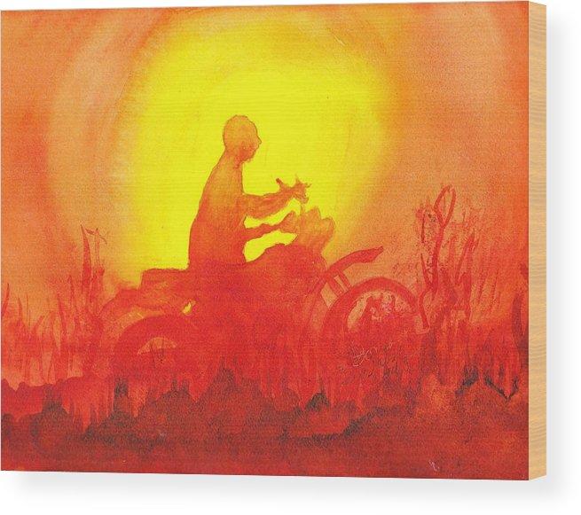 Koala Lumpur Sunset Wood Print featuring the painting Koala Lumpur Sunset by Donna Walsh