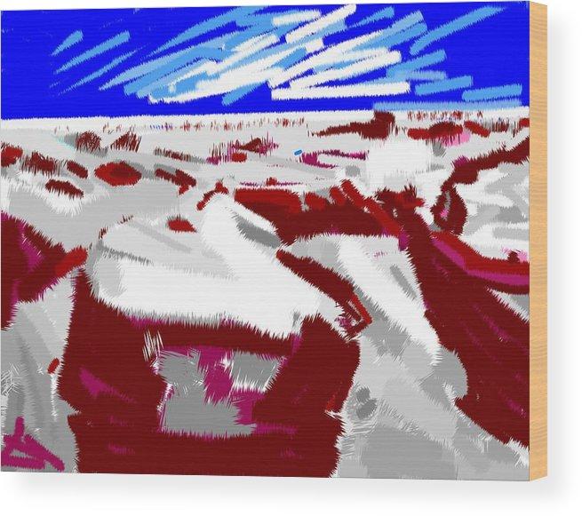 Lake Baikal Wood Print featuring the digital art Lake Baikal by Anand Swaroop Manchiraju