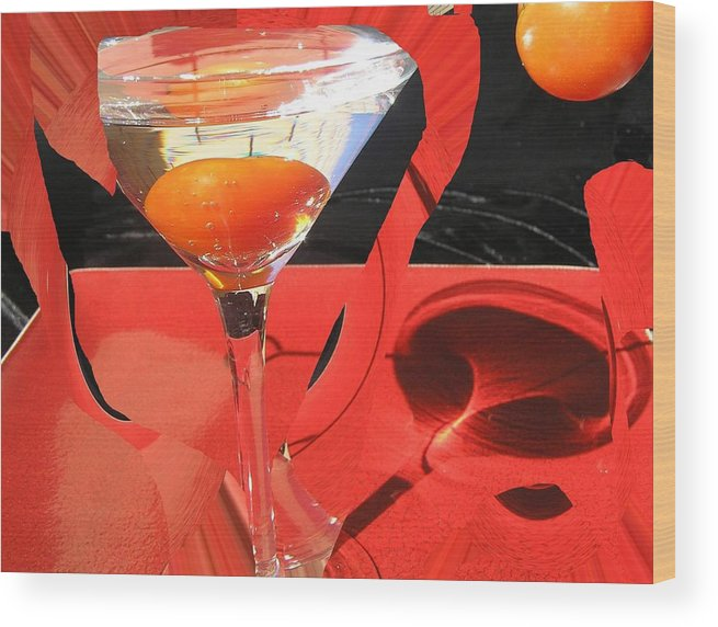 Still Life Wood Print featuring the photograph Martini Fantazy4 by Evguenia Men