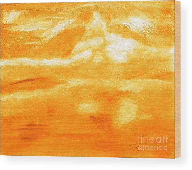 Switzerland Wood Print featuring the painting Matterhorn 10 by Richard W Linford