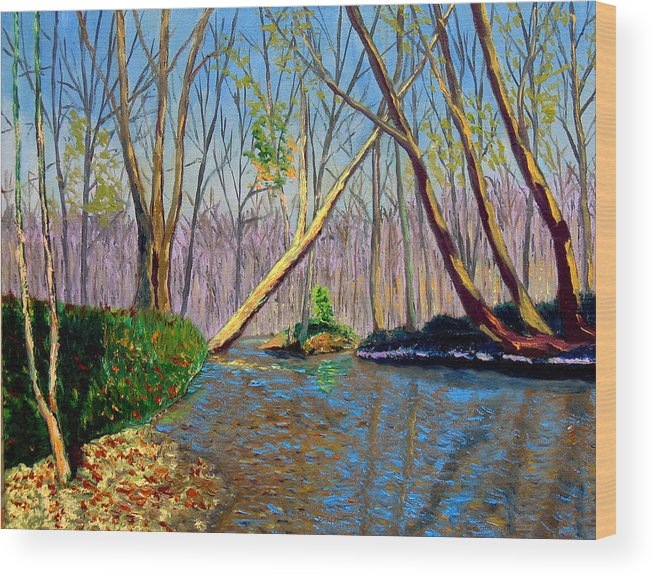 Creek Wood Print featuring the painting Mooresville November by Stan Hamilton