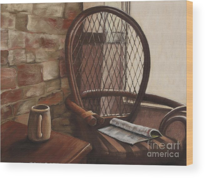 Interior Scene Wood Print featuring the pastel Morning Haven by Tina Foote