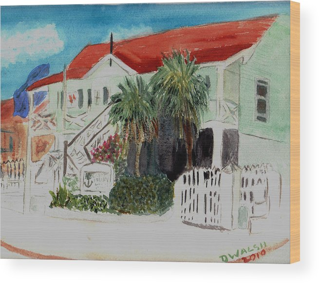 Nautical Wood Print featuring the painting Nautical Museum Georgetown by Donna Walsh