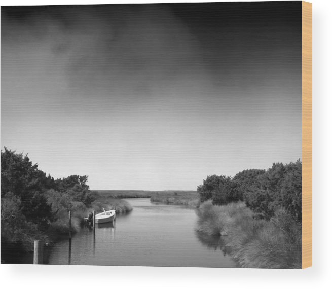 Cape Hatteras Wood Print featuring the photograph Ocracoke by Andreas Freund