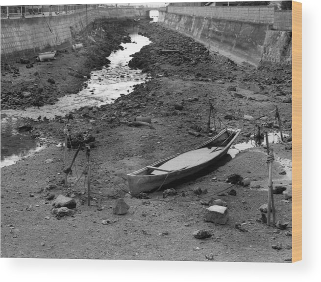 Okinaawa Canow Wood Print featuring the photograph Oki-canoe by Curtis J Neeley Jr