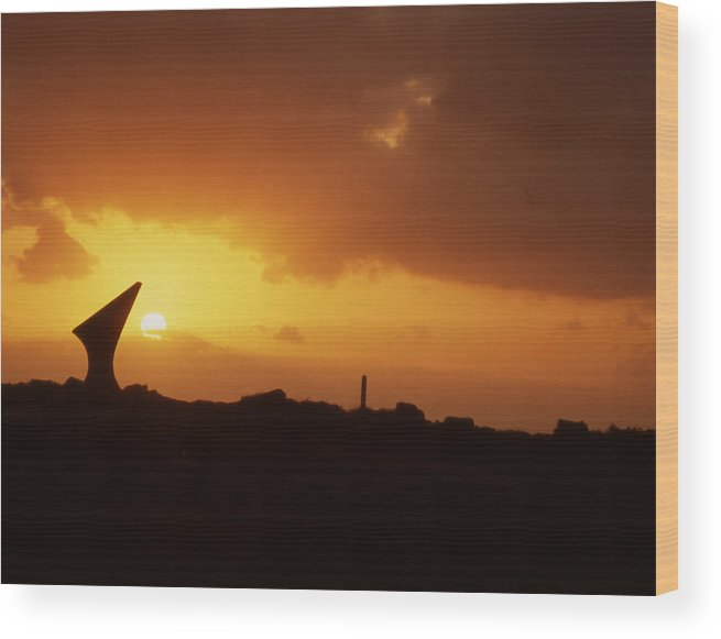 Wood Print featuring the photograph Okinawa Sunset by Curtis J Neeley Jr