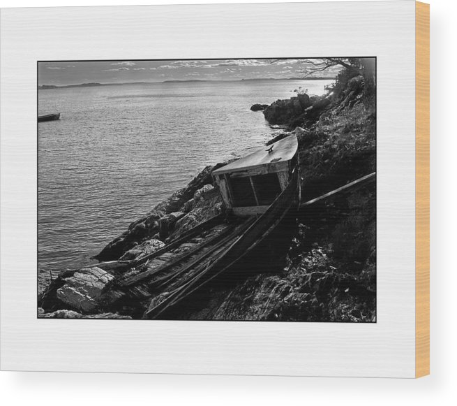 Seascape Wood Print featuring the photograph Old Boat by Filipe N Marques