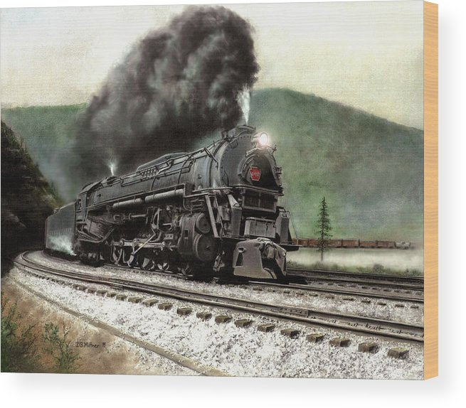 Wood Print featuring the painting Power On The Curve by David Mittner