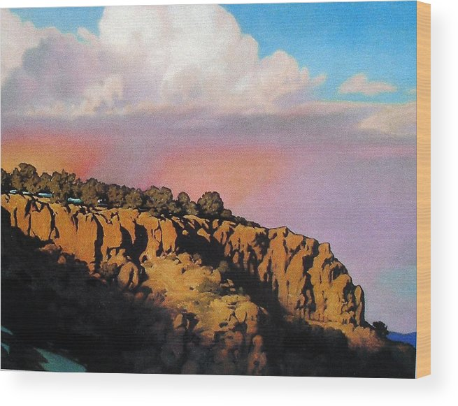 Landscape Wood Print featuring the painting Purple Rain by Kevin Lawrence Leveque