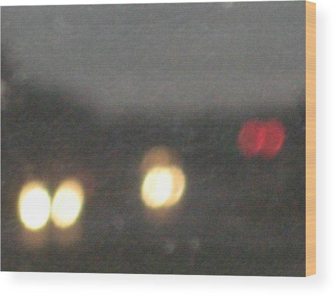 Lights Wood Print featuring the photograph Rain 5 by Stephen Hawks