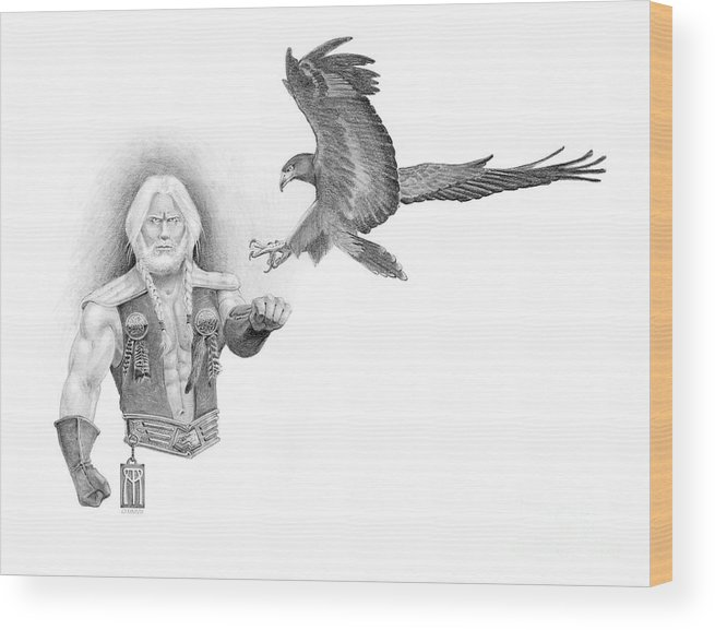 Barbarian Wood Print featuring the painting Revan Ramstedder by Melissa A Benson
