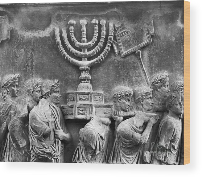 Ancient Wood Print featuring the photograph Rome: Arch Of Titus by Granger