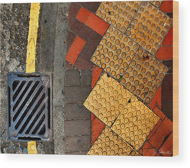 Street Wood Print featuring the photograph Street Abstract by Joe Bonita