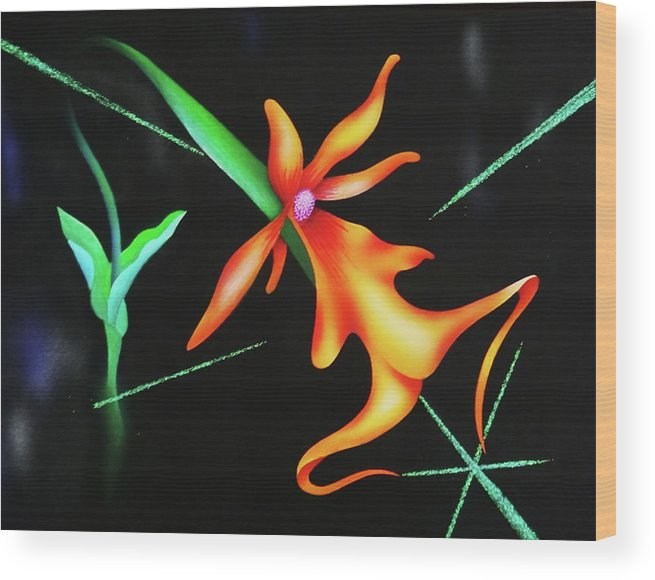 Orchid Wood Print featuring the painting Sublime by Heather Crowther