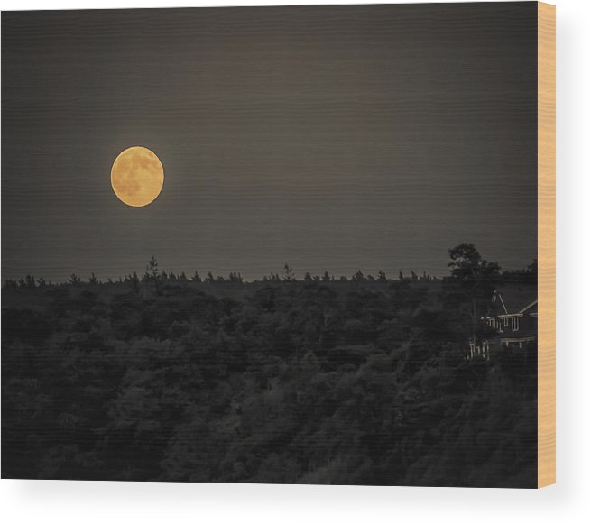 Black Brook Shop Wood Print featuring the photograph Supermoon by Black Brook Photography