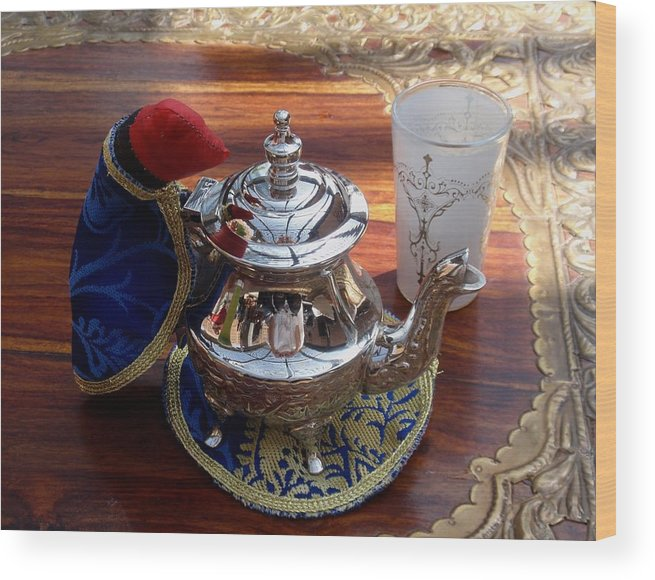 Tea Pot Wood Print featuring the photograph Tea Time by Valia Bradshaw