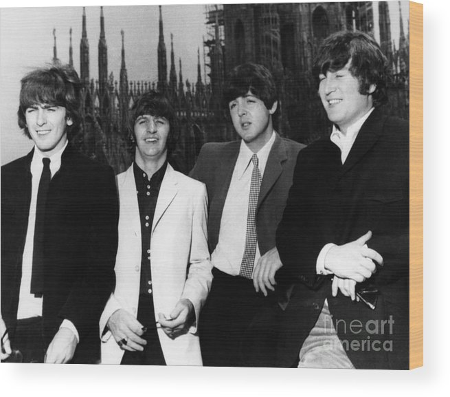 1960s Wood Print featuring the photograph The Beatles, 1960s by Granger