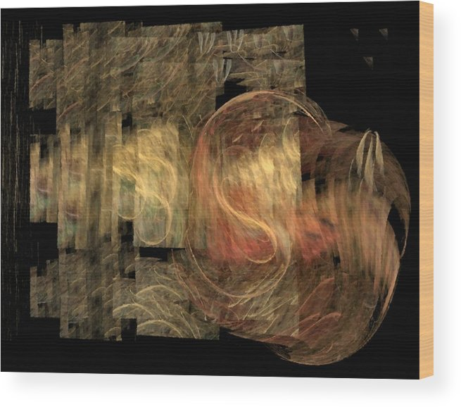 Abstract Wood Print featuring the digital art The Crooked Road by NirvanaBlues
